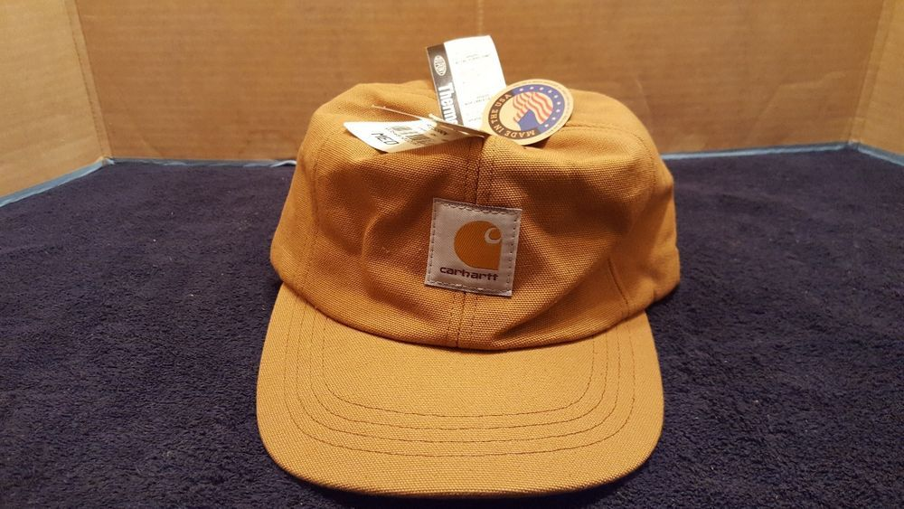 Vintage Carhartt Brown Duck Quilt Lined Winter Hat w  Ear Flaps USA MED   Carhartt  5Panel 0c7cc9ca9c86