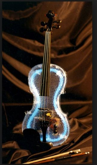 glass violin with lights in it violins in 2019 violin music violin art. Black Bedroom Furniture Sets. Home Design Ideas