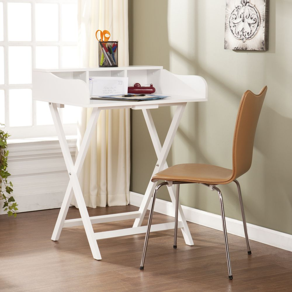 Upton Home Marion White Folding Craft/ Student Desk/ Table By Upton Home