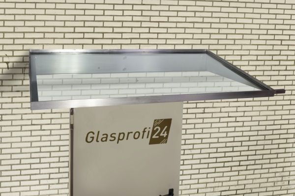 Glas Vordach Mit Edelstahl Rahmen Komplettes System Antreas