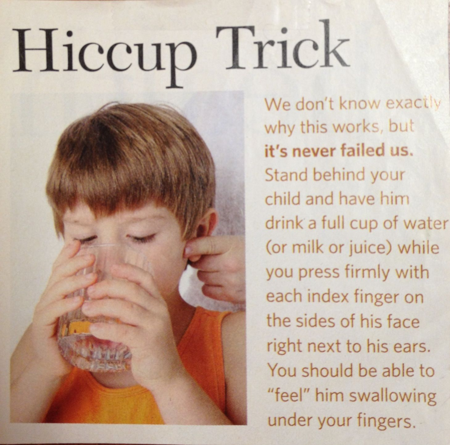 How to quickly get rid of hiccups