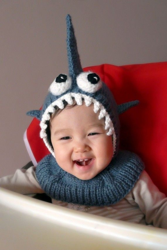 Shark Coverall Hat 612 months by NYrika on Etsy, $33.00