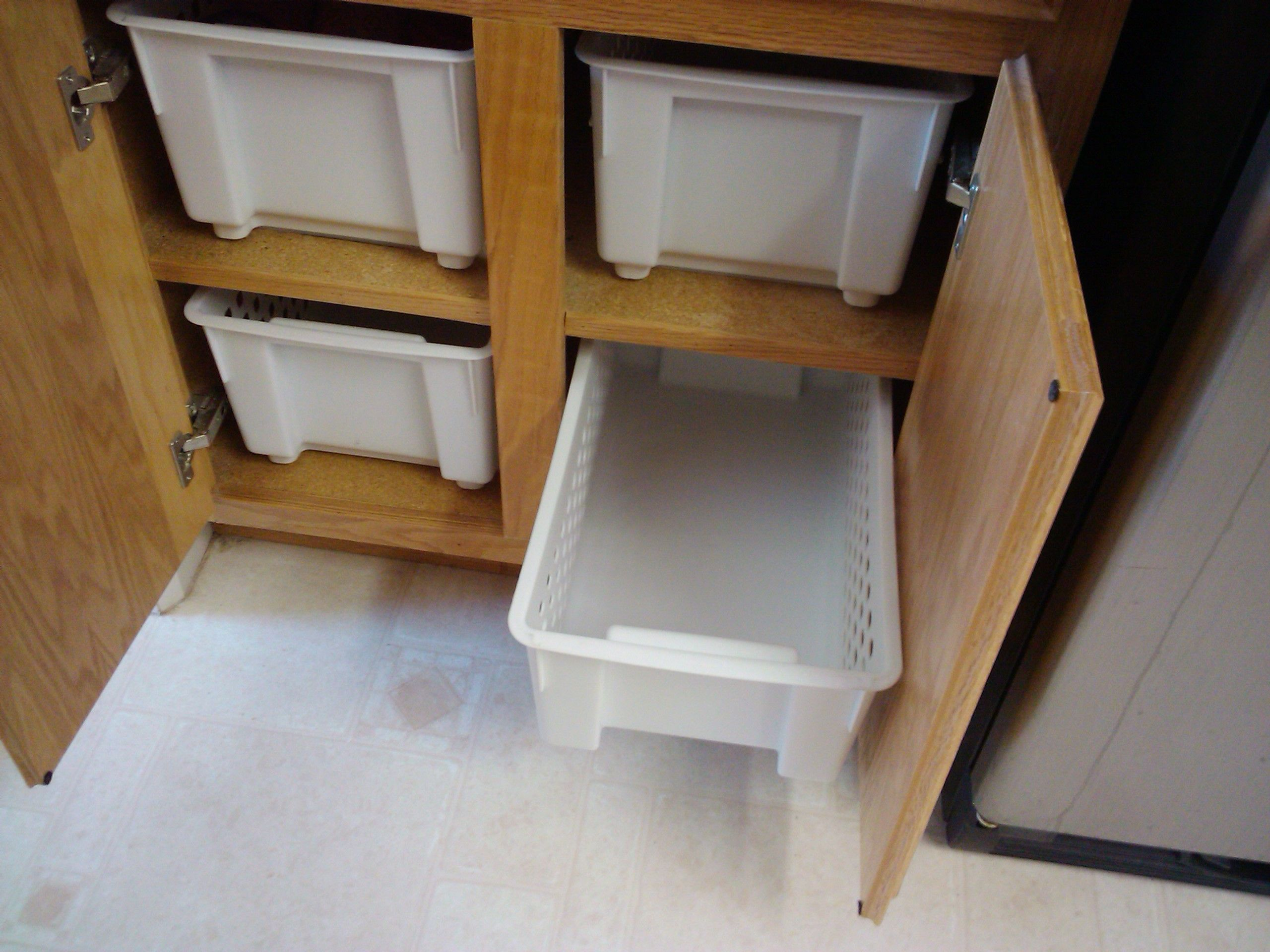 Kitchen Cabinet Inexpensive Solution No More Reaching To The Backs Of My 24 Deep Cabinets
