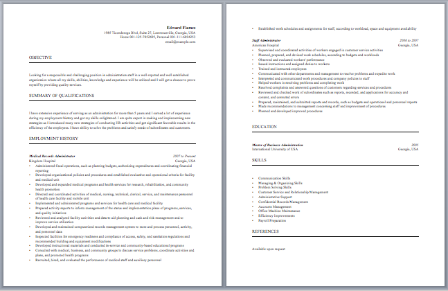sample resume for apartment manager