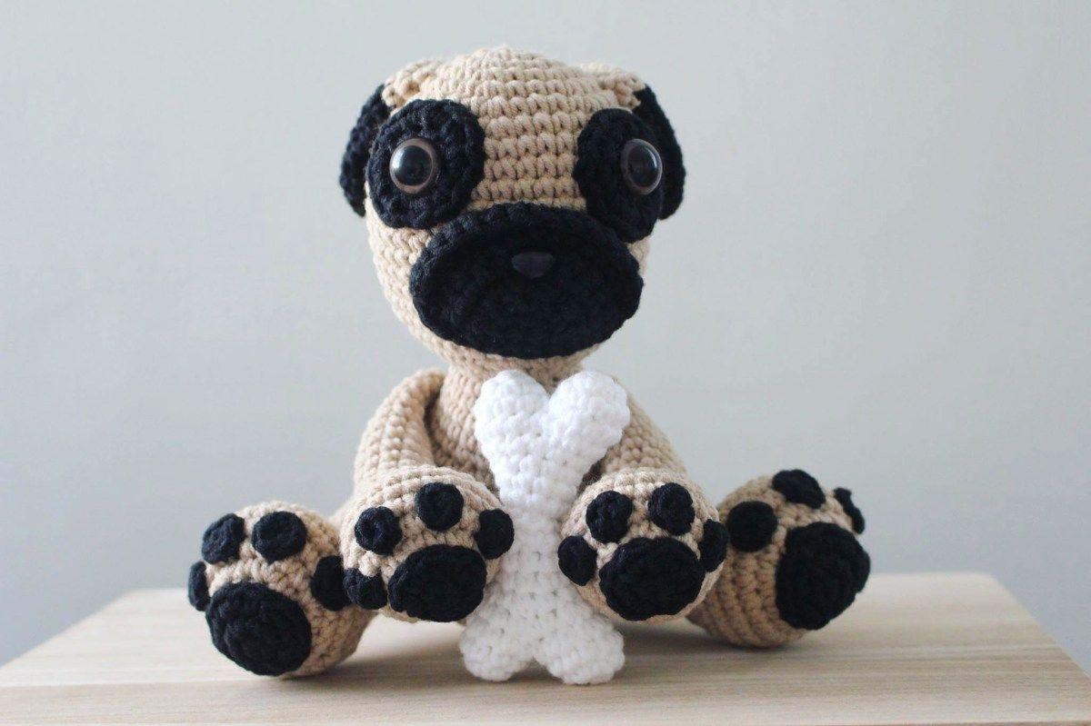 Crochet Pug Puppy   pugs sol   Pinterest   Patrones, Ganchillo y Tejidos