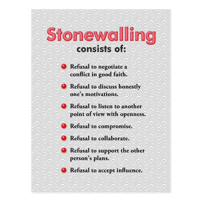 Stonewalling Postcard or Mini Art Poster
