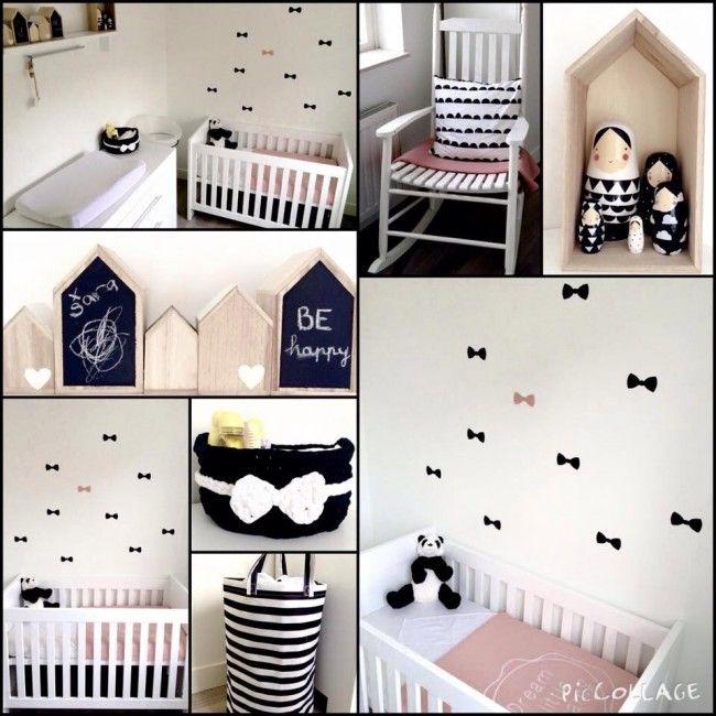 Zwartwitoud roze  Kids room  Kids bedroom Baby room