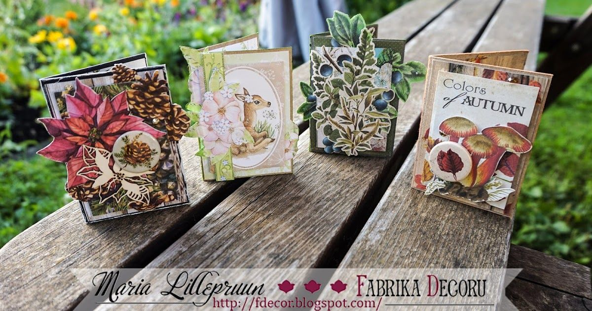 """Pop Up ATC series """"Four Seasons"""" by Maria Lillepruun"""