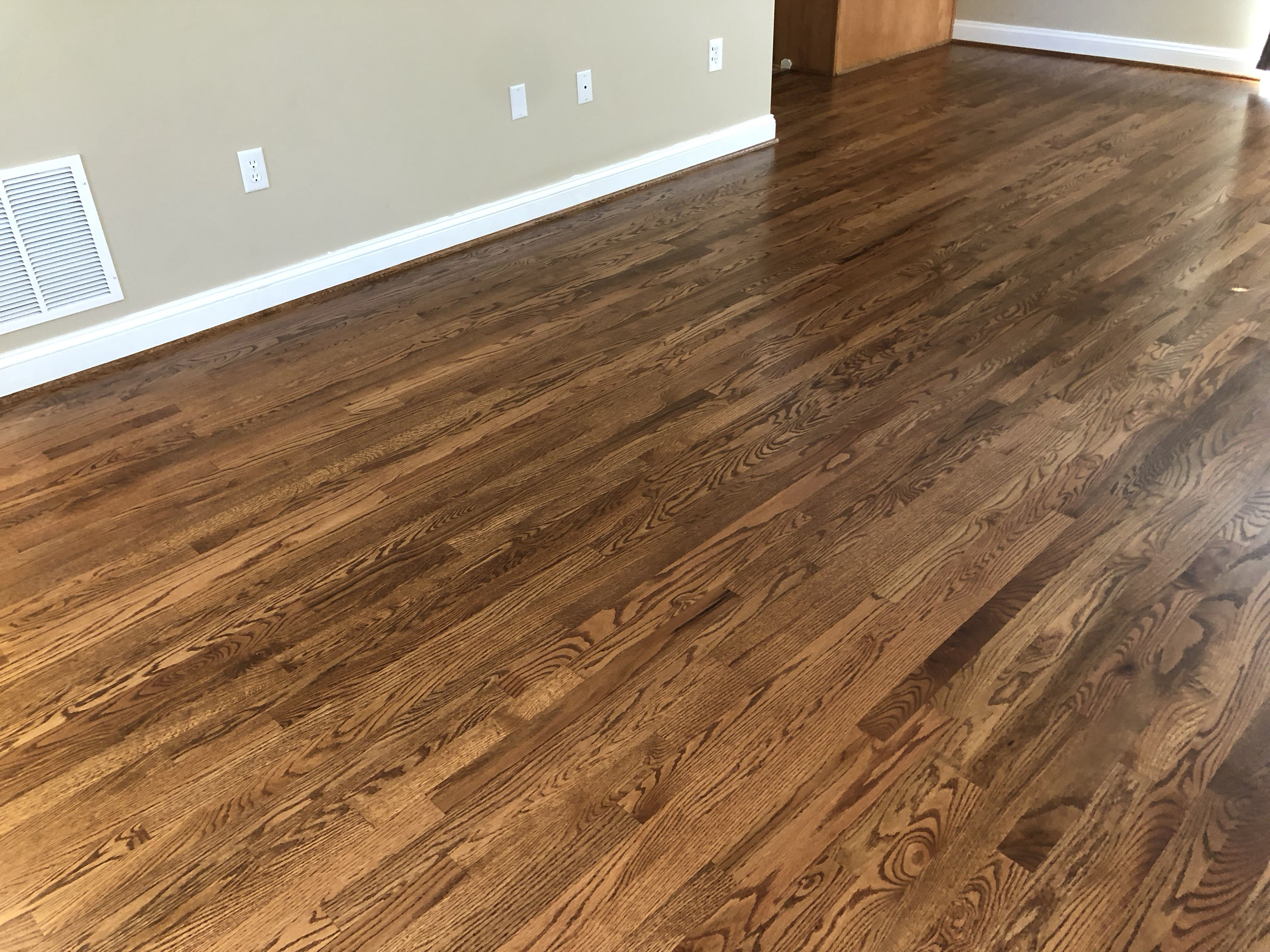 Red Oak Floors Stained With Early American Red Oak Hardwood Floors Red Oak Floors Wood Floor Stain Colors