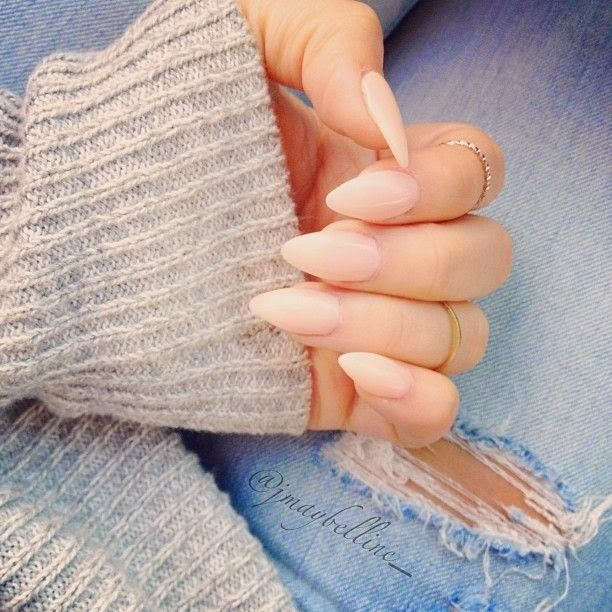 pointy nails -