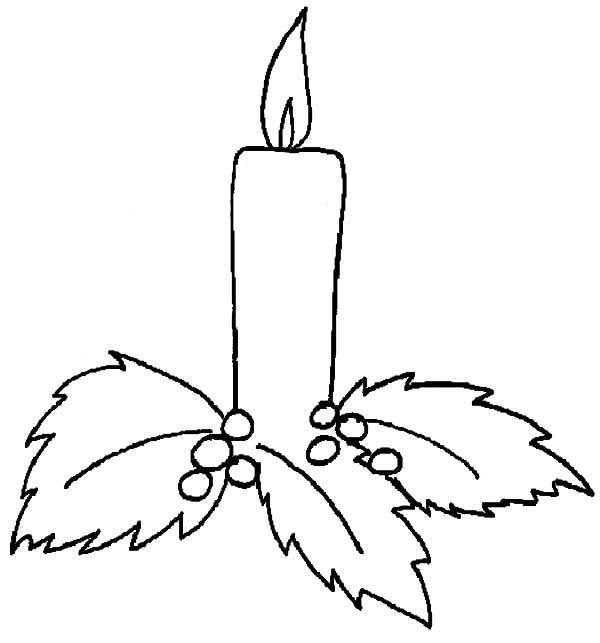 Christmas Candle Holy Light Coloring Pages  Vianoce  Pinterest