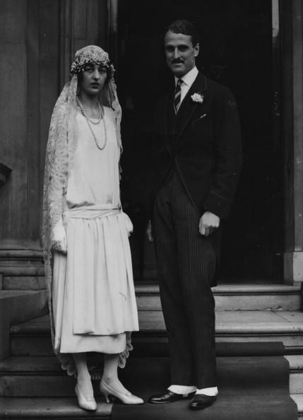 The Russian Prince, Sergei Obolensky and his bride, Alice Astor, after their wedding ceremony at Grosvenor Square, London.