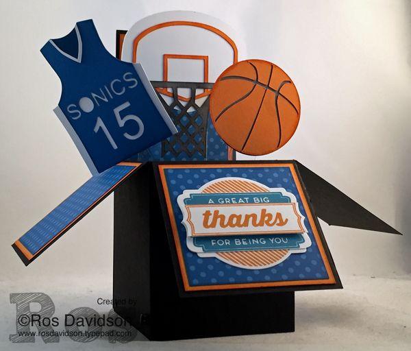 Basketball Thank You Card Card Box Pop Up Valentine Cards Birthday Cards For Boys
