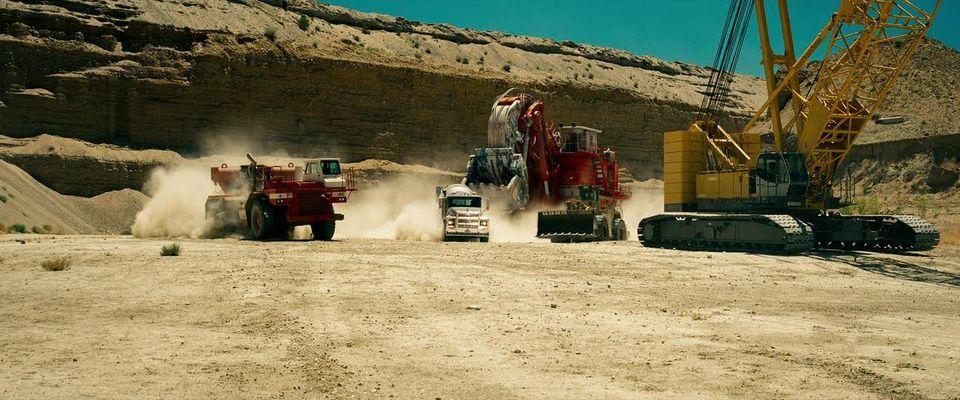 Escena de la película en una zona de construcción en Egipto. #Decepticons