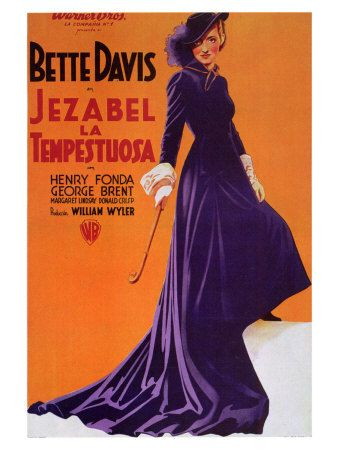 Jezebel Vintage Bette Davis Movie Poster Print 24x36