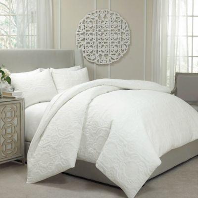 Vue Barcelona Convertible Coverlet To Duvet Cover Set In Ivory Duvet Sets Duvet Cover Sets Quilted Duvet