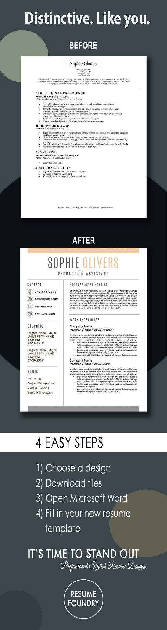 Stylish And Modern Resume Template  Page Resume  Cover Letter