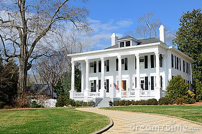 Small antebellum house plans antebellum home stock for Small plantation homes