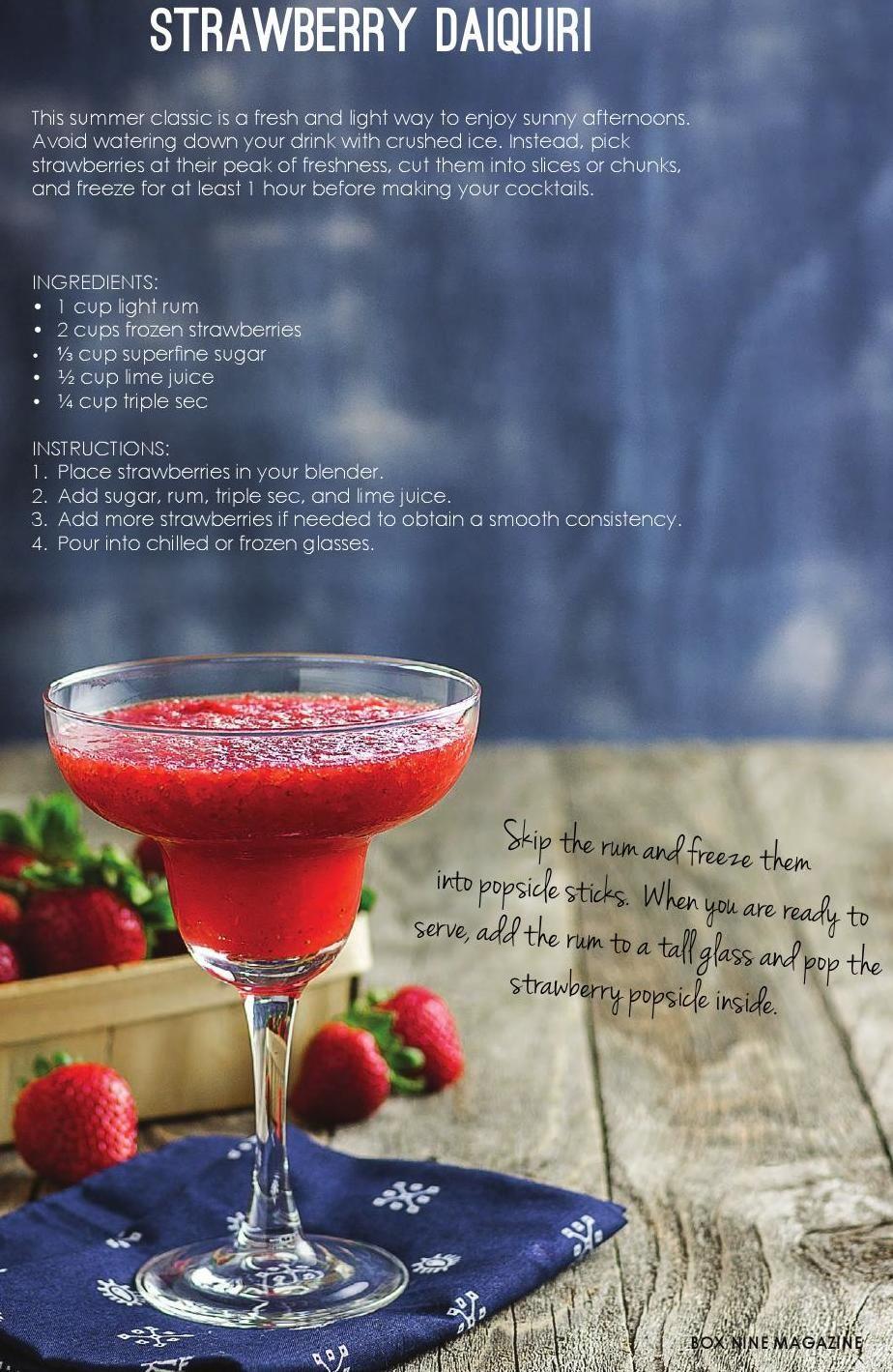 how to make strawberry hennessy daiquiri