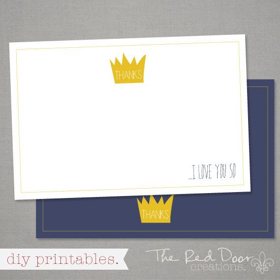 Where The Wild Things Are Thank You Card This Thank You Card Is