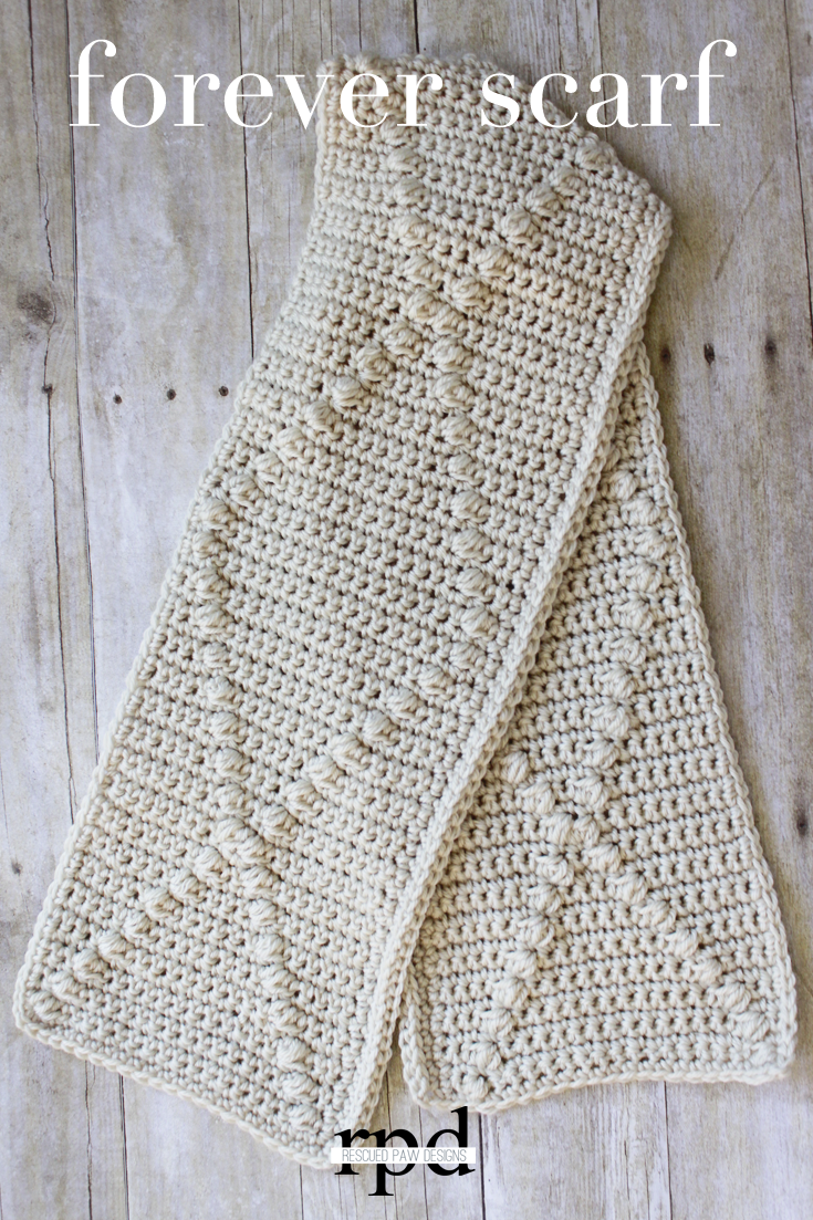 Forever Scarf - Crochet Pattern | Tejido, Ganchillo y Crochet bufanda