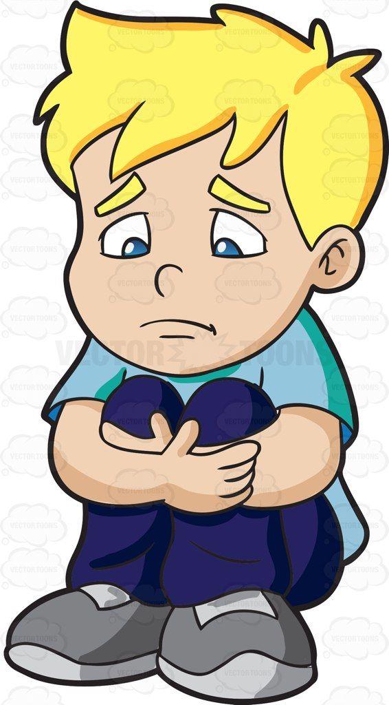 A Sad Boy Making Himself Feel Small