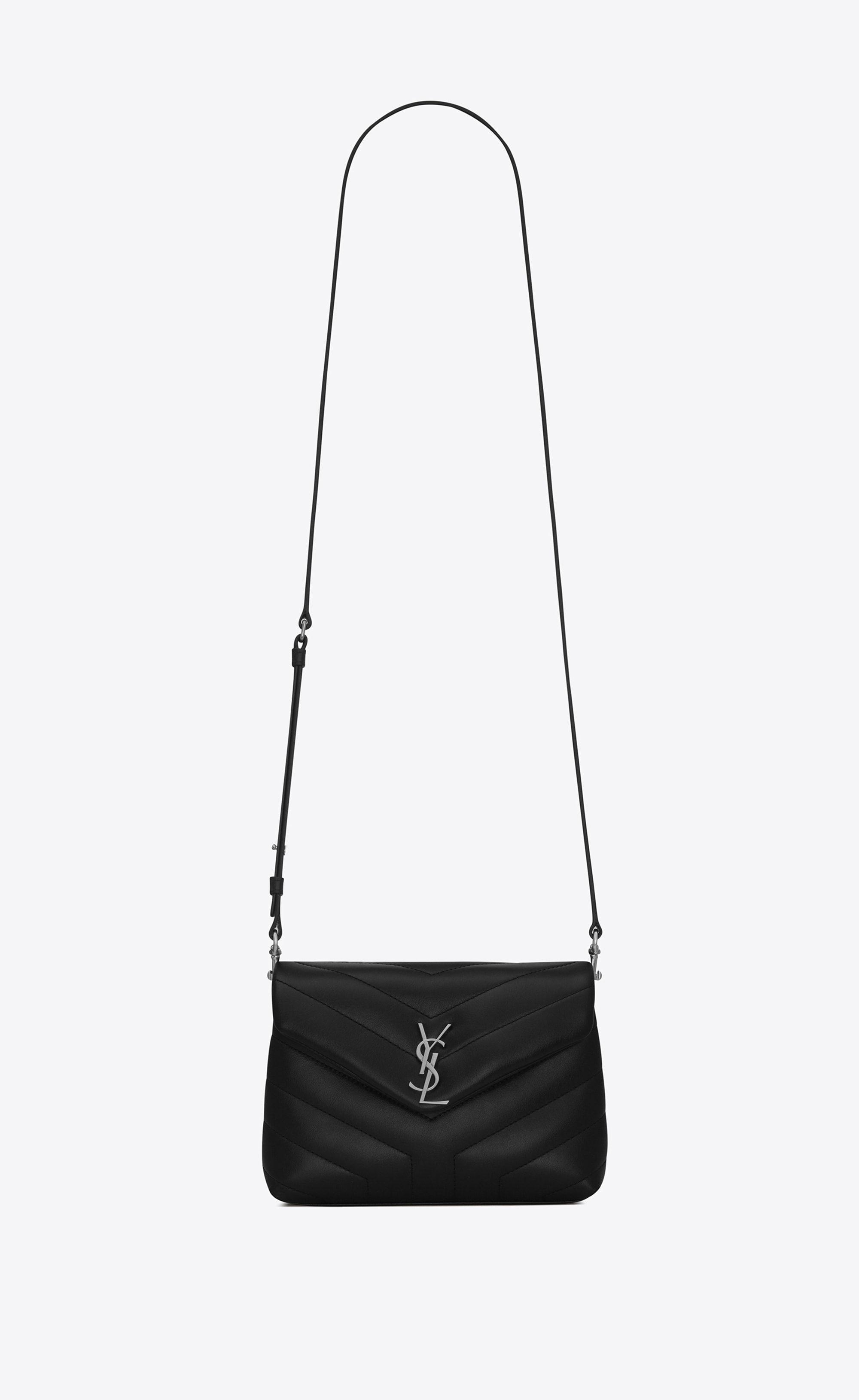 c6a88864d48c Saint Laurent Toy Loulou Strap Bag In Black