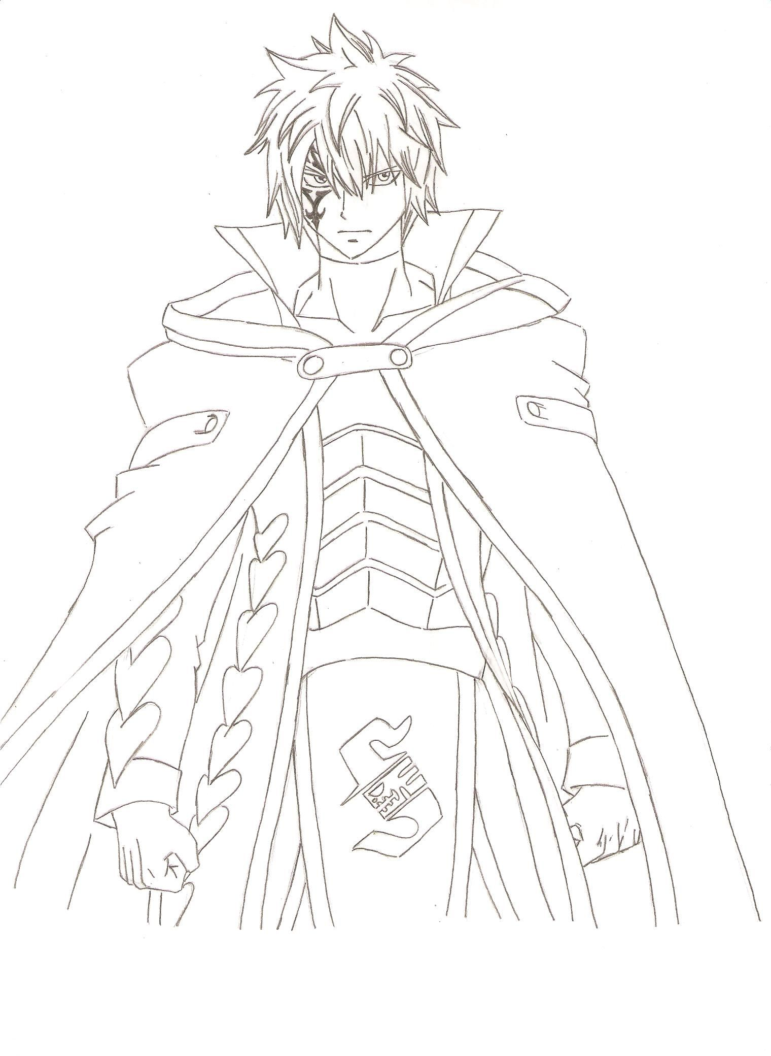 jellal from crime sorciere by FairyTail0079 on DeviantArt | LineArt ...