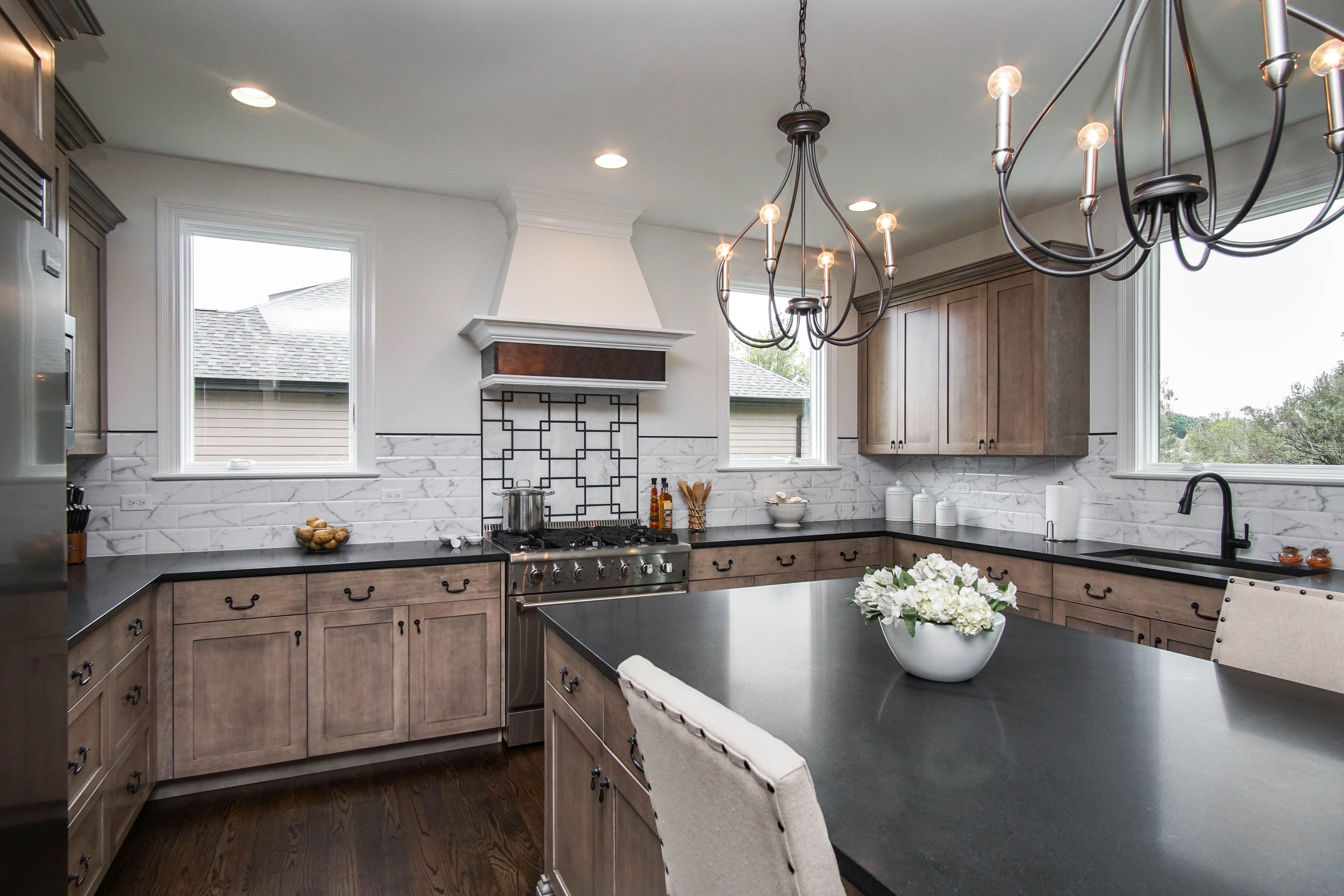 interesting marble backsplash kitchen walls | Sublime Homes created an elegant backsplash with our ...