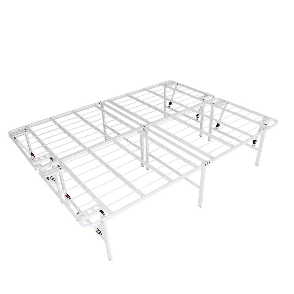 Intellibase Lightweight Easy Set Up Bi Fold Platform White Metal