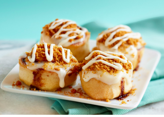 Cinnabon New Lotus Biscoff Topped Bons Food