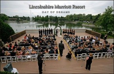 Marriott Lincolnshire Chicago Wedding Ceremony On The Lakeside Deck