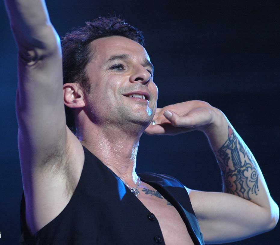 Dave Gahan of Depeche Mode during Touring the Angel