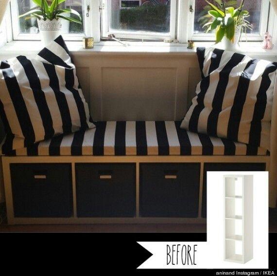 Ikea kallax -> bank | inrichting - meubels | Ikea hack ...