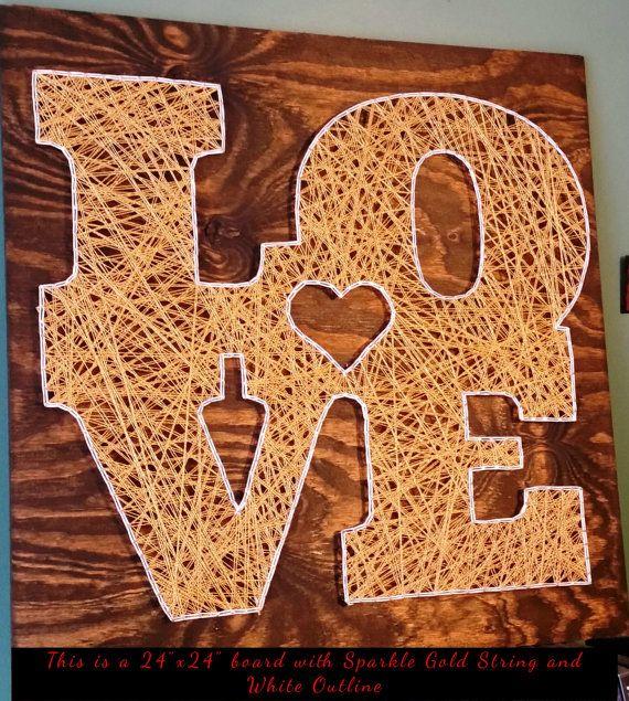Love String Art Sign, Made to Order   Fadenbilder, Nagelbilder und ...
