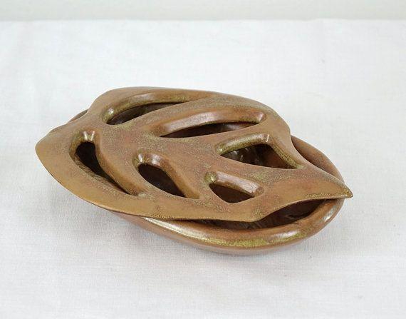 Ensemble Porte-Savon et Bol Céramique Bronze par The1608shop