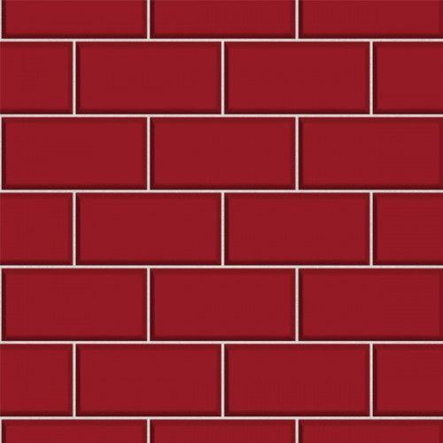 Subway Tile - Red | Tiles, Subway tile, Albany wallpaper