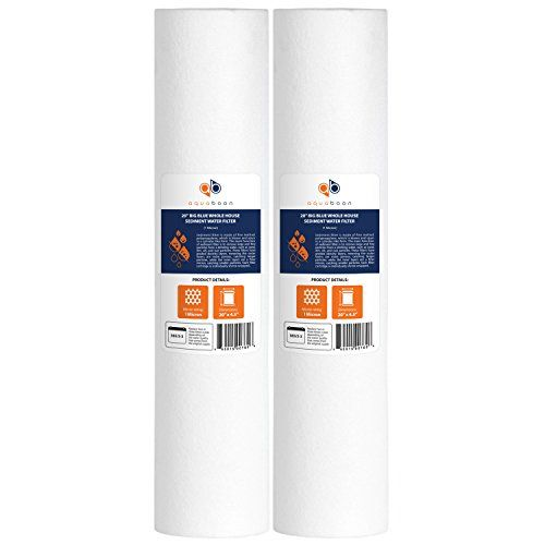 Aquaboon 2pp20b 1 Micron Big Blue Whole House Water Filter Sediment 20inch 2pack You Can Get More D Water Filter Cartridge Whole House Water Filter Sediment