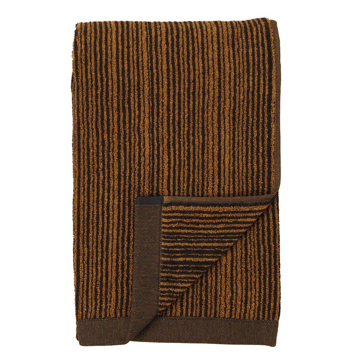 Marimekko Varvunraita Black Brown Bath Towel Brown Bath Towels