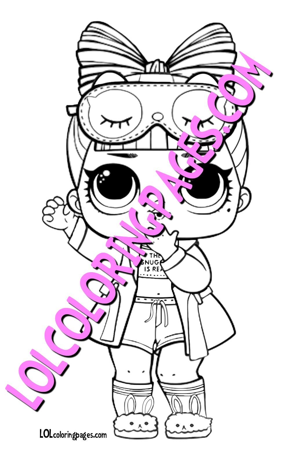 Snuggle Babe Lol Surprise Doll Free Coloring Page To Print Come
