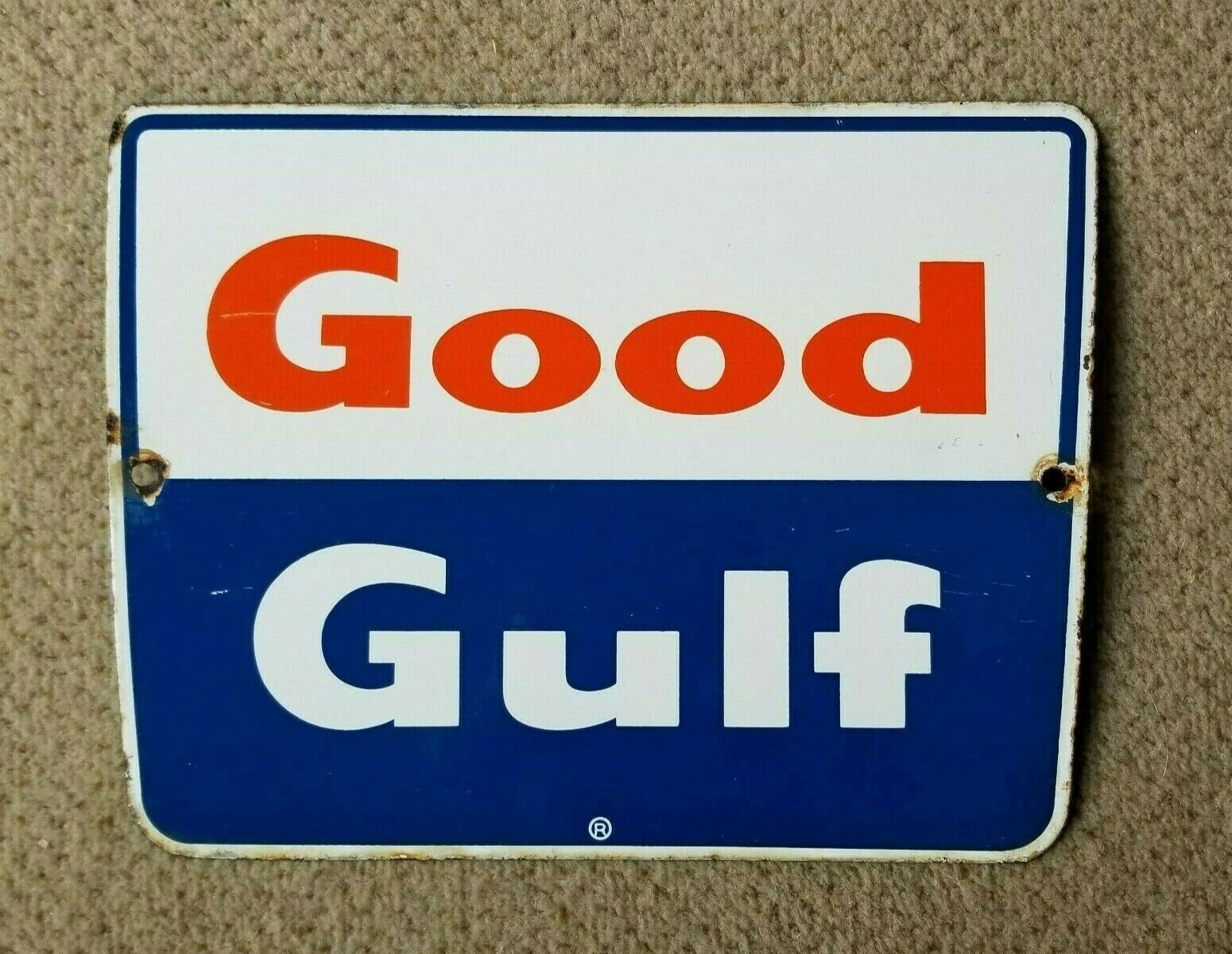 Good Gulf Porcelain Sign Vintage Original Pump Oil Service Gas Station Garage In 2020 Porcelain Signs Oil Service Gas Station