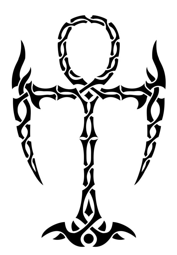Tribal Ankh Tattoo By Lunar Alienismdeviantartcom On At Deviantart