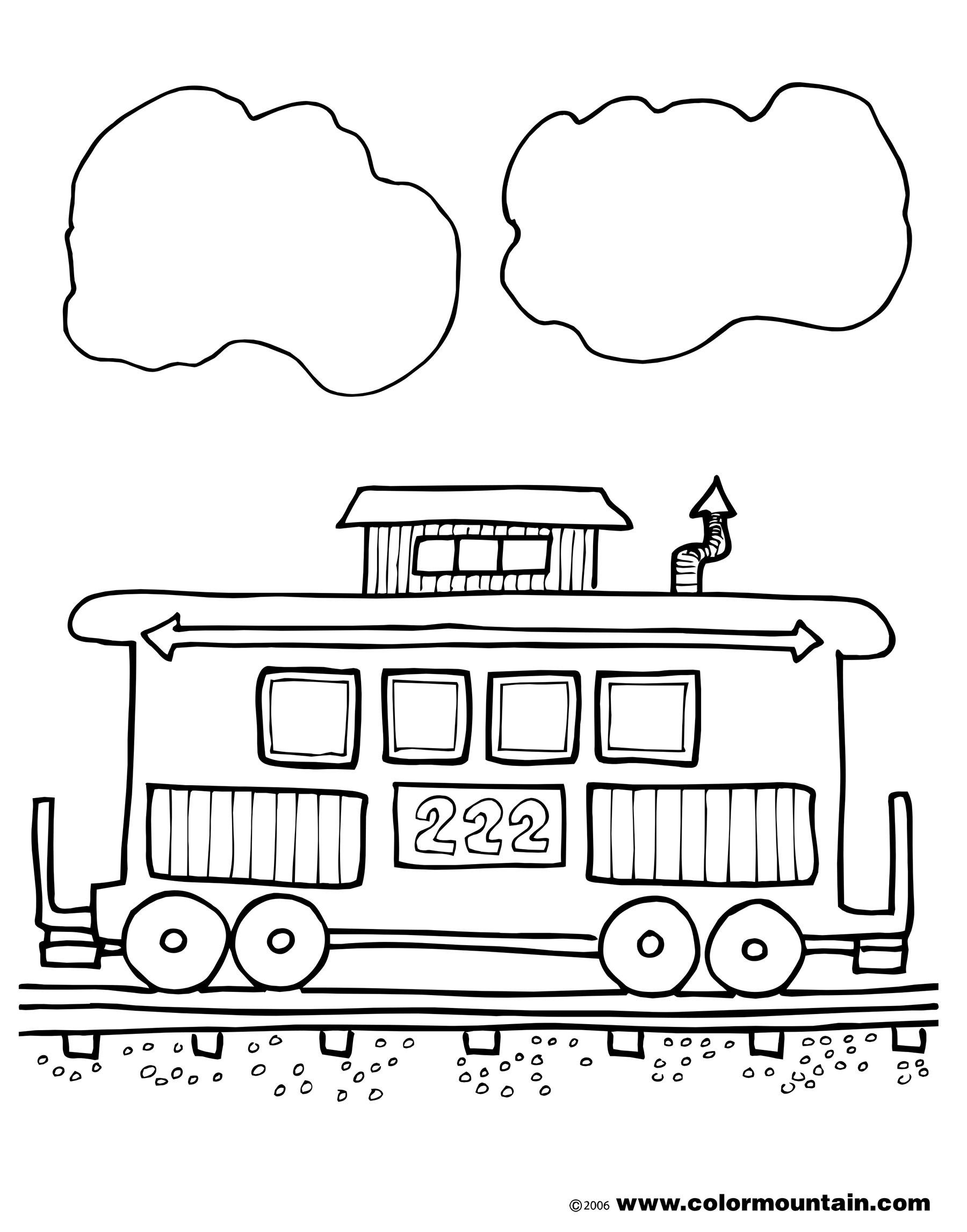 Free Coloring Pages Of Train Caboose Jpg 1 800 2 294 Pixels