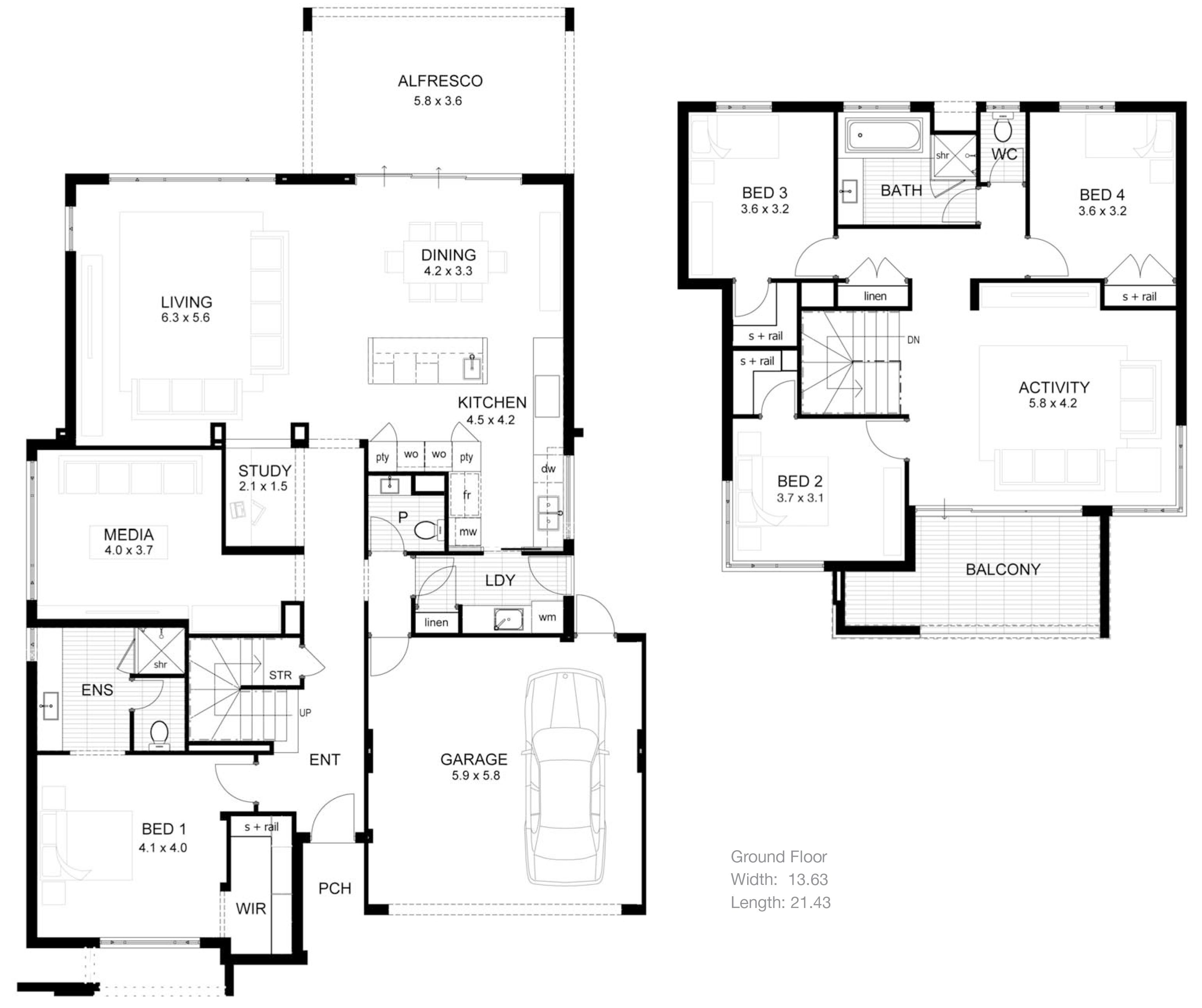 Wonderful modern minimalist house floor plans plus pictures of 2 storey modern minimalist house plan 4 home ideas