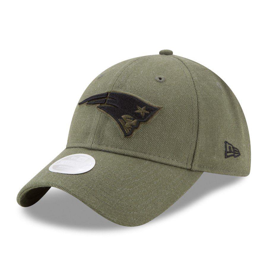 Women s New England Patriots New Era Olive Green Preferred Pick 9TWENTY Adjustable  Hat d7dbc7a952fb