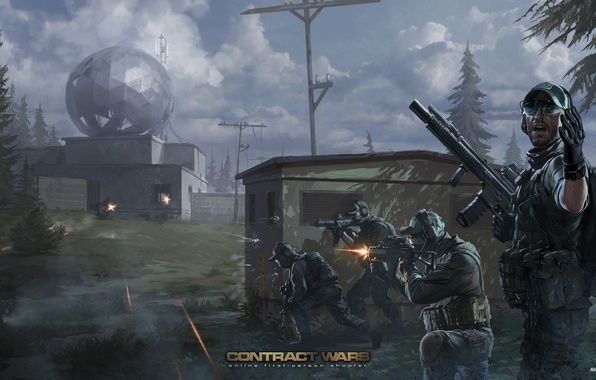 Photo wallpaper special forces, art, soldiers, contract wars