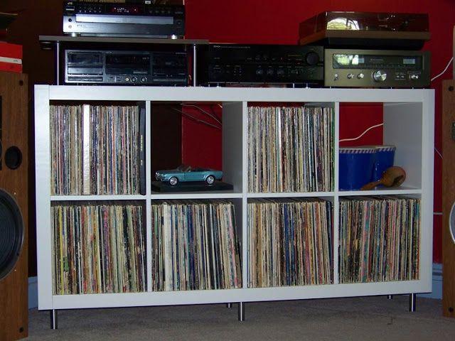 Retro 60 S Expedit Stereo Corner Meuble Vinyle Rangement Vinyle