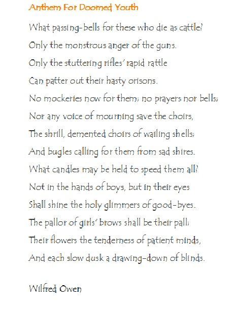 Wilfred Owen World War One Poet Surely One Of The Greatest