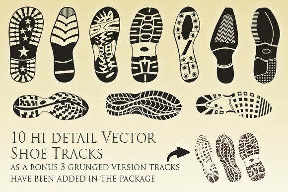Vector Shoe Tracks Collection Thema