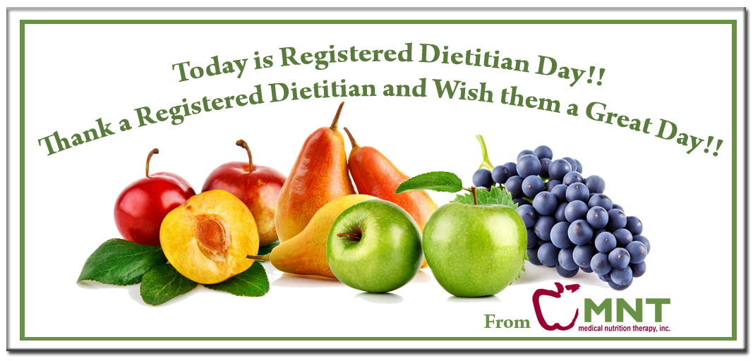 Registered Dietitian Day On March 11th Nutritional Therapy Nutrition Registered Dietitian
